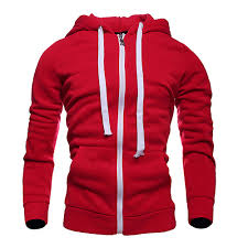 popular red hoodie white zipper buy cheap red hoodie white zipper