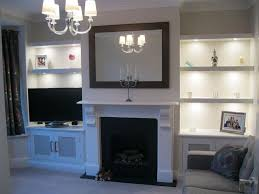 Nice Lounge Shelving And Mirror
