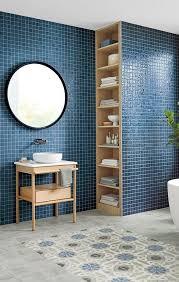 badinspirationen mosaikfliesen lieblingsfarbe blau