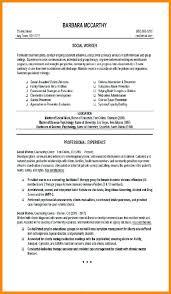 Social Work Resume Examples 6 Science Curriculum Vitae