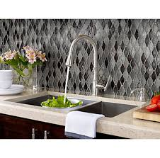 Pull Down Kitchen Faucets Stainless Steel by Stainless Steel Wheaton 1 Handle Pull Down Kitchen Faucet F 529