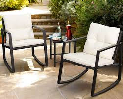 Walnew 3 Pieces Patio Furniture Set Rocking Wicker Bistro Sets Modern  Outdoor Rocking Chair Furniture Sets Cushioned PE Rattan Chairs  Conversation ... The Gripper 2piece Delightfill Rocking Chair Cushion Set Patio Festival Metal Outdoor With Beige Cushions 2pack Fniture Add Comfort And Style To Your Favorite Nuna Wood W Of 2 By Christopher Knight Home Details About Klear Vu Easy Care Piece Maracay Head Java Wicker Enstver Bistro 2piece Seating With Thickened Blue And Brown Amish Bentwood Rocking Chair Augustinathetfordco Splendid Comfortable Chairs Nursing Wooden Luxury Review Phi Villa 3piece