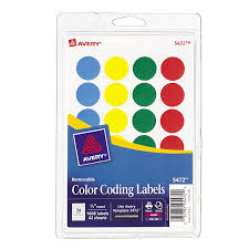 Amazon Avery Removable Print Or Write Color Coding Labels Round 075 Inches Office Products