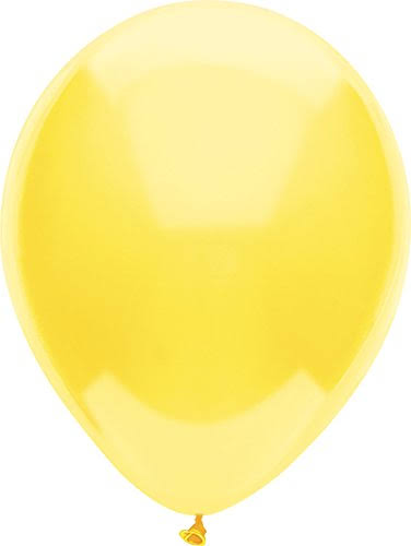 "PartyMate Latex Balloons - Sun Yellow, 12"" Round"