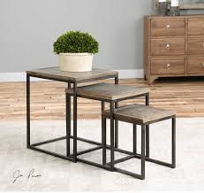 Uttermost Bomani Wood Nesting Tables Set/3 Nesting Tables Set Of 2 Havsta Gray Josef Albers Tables 4 Pavilion Round Set Zib Gray Piece Oslo Retail 3 Modern Reflections In Blackgold Two Natural Pine And Grey Zoa Nesting Tables Set Of Lack Black White Contemporary Solid Wood Maitland Smith Faux Bamboo