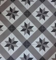k rocim décor géométrique gris 20x20 carrelage vintage