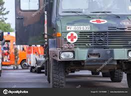 German DLRG ( German Lifeguard Association ) Trucks Stands In ...