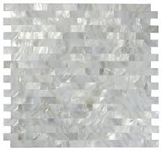 12 x12 mother of pearl mosaic backsplash tile tile contemporary