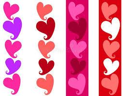 Simple Valentine Heart Borders Stock Illustration Illustration