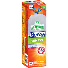 Christmas Tree Trash Bags Walmart by Hefty Renew Tall Kitchen Bags 13 Gallon 20 Ct Walmart Com