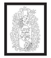 11x14 Color In Love Laughter Wine Float Frame Black