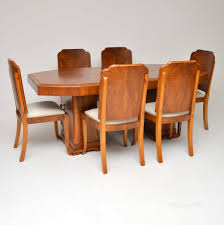 Art Deco Walnut Dining Table & Chairs Simmons Upholstery 500959 Heirloom Fniture Black Walnut Ding Table Bentley Designs Lyon Extending Table 6 Oiive Grey Leather Chairs Costco Uk Royce Set B 14 Camel Group Nostalgia Round Extension Starburst Dark Tables Custmadecom And Chairs Chair By Svegards Of America Argos Ava With 4 In Bucksburn Aberdeen Gumtree To Solid Jupe Hidden Leaves