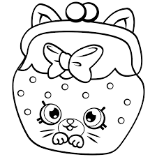 Shopkins A4 Colouring Pages To Print Kins Coloring Best For Kids