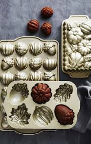 Nordic Ware Pumpkin Cake Pan Recipe by Image Of Nordic Ware Bronze Autumn Cakelet Pan Cupcakes And