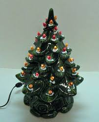 Ceramic Tree Lights Tabletop Christmas With