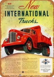 100 International Trucks Chicago 1947 Metal Sign 2