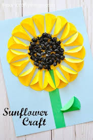 Gorgeous Folded Paper Sunflower Craft That Makes A Perfect Summer Kids Fun Flower Crafts For And