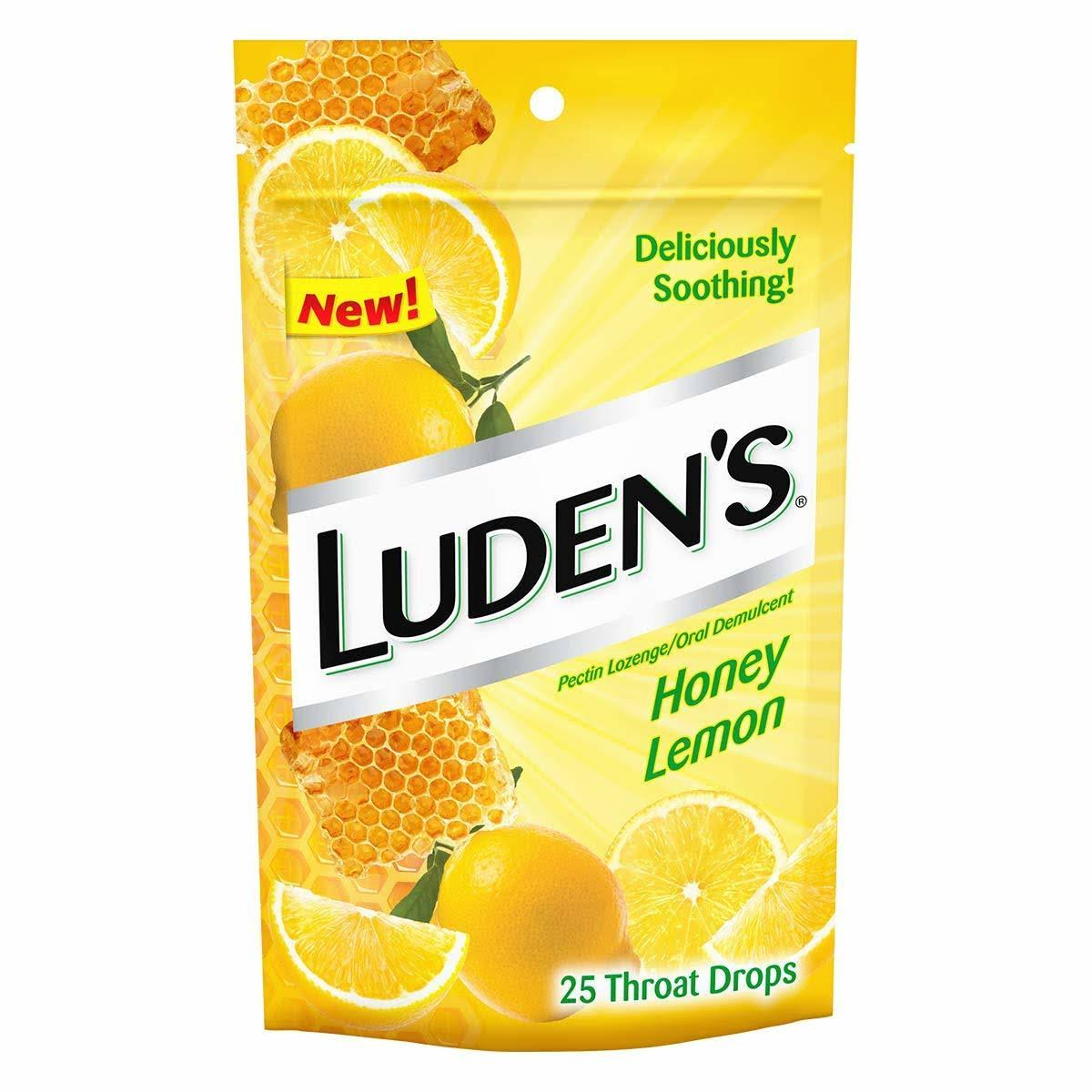 Ludens Throat Drops, Honey Lemon - 25 drops
