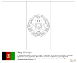 Afghanistan Flag Coloring Page High Flying Free