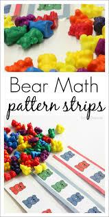 Bear Math Patterns For Preschool And Kindergarten