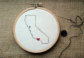 California State Outline With Heart PDF Pattern Only