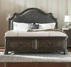 Image Is Loading RUSTIC SPANISH STYLE KING LEATHER STORAGE BED BEDROOM