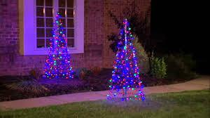 Christmas Trees Prelit by Pre Lit Led 5 U0027 Fold Flat Outdoor Christmas Tree By Lori Greiner On