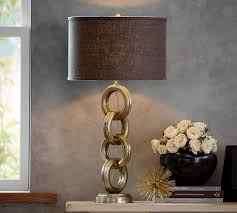 interlaced gold chain table l base pottery barn lights