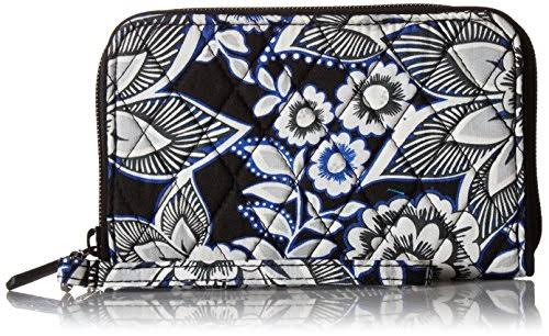 Vera Bradley RFID Grab & Go Wristlet - Snow Lotus - Women's Wallets