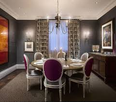 Chandelier Modern Dining Room by Dining Room With Modern Furniture And Lighting With Sheer Long