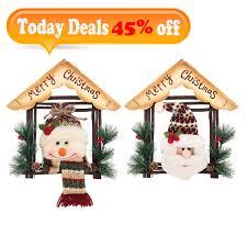 UNOMOR Christmas Door Decorations 2 Pack Santa Door Covers For Xmas