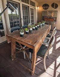 Primitive Industrial Farmhouse Style Dining Table Workbench With Wood Vise Leg For Sale 5