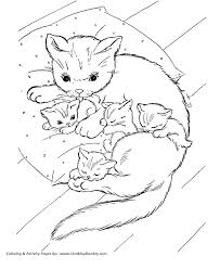 Kitten Coloring Pages Kids Printable New Colouring For Adults