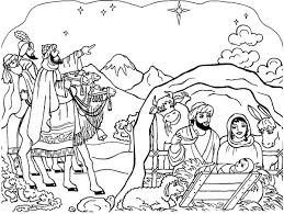 Nativity Scene Coloring Page Color