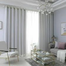 vorhang doppelschicht vorhänge ösen garn tüll gardine