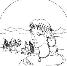Esther Queen Try To Save Her People From Genoside Coloring Pages