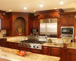 Charming Traditional Indian Kitchen Design With Granite Cooktop Kerala House Pinterest And