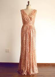 v neck champagne sequin deep v back bridesmaid dress