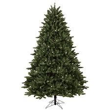 GE 75 Ft Pre Lit LED Just Cut Frasier Fir Artificial Christmas Tree With EZ Light