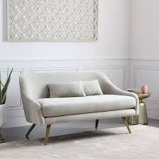 roar rabbit glamour velvet sofa 60 west elm