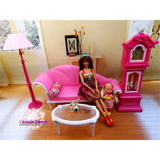 Barbie Living Room Playset by Miniature Luxury Living Room Furniture Set For Barbie Doll House