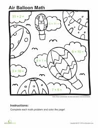 Addition Coloring Pages
