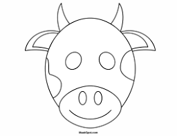 Cow Mask To Color