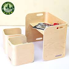 Mizuki In Birch Wood Furniture Kit For Children To Learn And Chairs ...