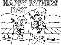 Fathers Day Fishing Coloring Page