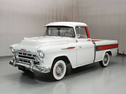 1957 Chevrolet Cameo Pickup | Hyman Ltd. Classic Cars 1957 Chevrolet Cameo Carrier 3124 Halfton Pickup Chevrolet Cameo Streetside Classics The Nations Trusted 1955 Pickup Truck Stock Photo 20937775 Alamy Rare And Original Carrier Pickup Sells For 1400 At Lambrecht Che 1956 3100 Volo Auto Museum 12 Ton Chevy Cameo Gmc Trucks Antique Automobile Club Of Sale 2013036 Hemmings Motor News On The Road Classic Rollections 1958 Start Run External Youtube Chevy Forgotten Truckin Magazine
