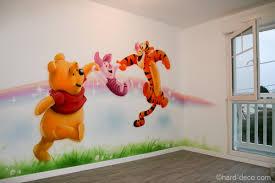 décoration chambre bébé winnie l ourson décor mural de salle de jeux sur le thème de winnie l ourson