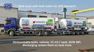 100 Tank Truck VPS Rosice Truck With Tank Trailer For LPG Transport 411