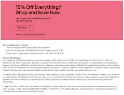 EBay 15% Off Sept 27/18 10am-6pm PT   Toyota Tundra Forum Revolution Coupon Code Finish Line Phone Orders City Heights Store Coupon Goodwill Industries Of San Diego Farfetch Coupons Promo Codes October 2019 30 Off College Book Rental 2018 Barnes And Noble Intertional Asos Discount 25 Off Zipcar Deals Groupon For 6pm Late Night Restaurants Near Me Everything You Need To Know About Online Scrubs Beyond Todays Discounts Cabelas Frankenmuth Redbus Offers Rs300 10 Cashback