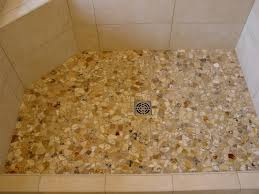 Pebble Shower Floors for Tiled Showers How to Install Small